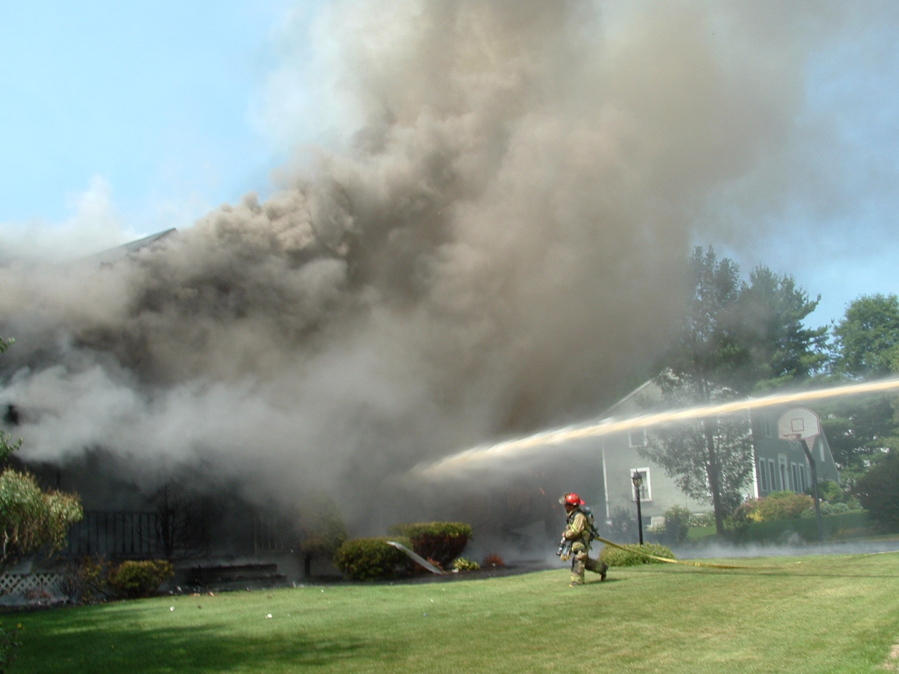 Picture of the structure fire on Forest in 2004