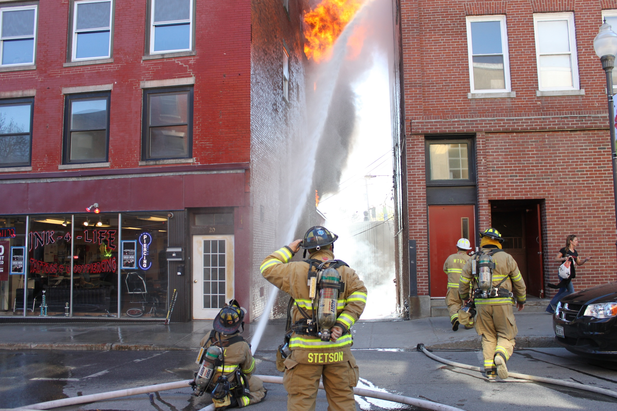Picture of structure fire on Main Street in 2013